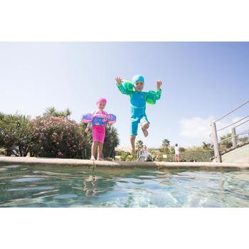 """Zwempakje met lange mouwen voor peuters blauw en groen print """"Monkey"""""""