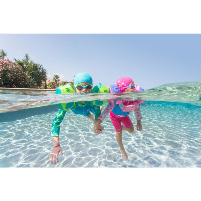 Modulaire zwemhulp Tiswim voor kinderen groen met aapprint