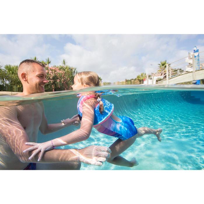 Schwimmweste Swimvest+ Schaumstoff blau/rosa 15–25kg