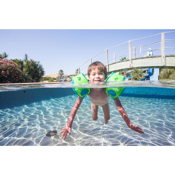 Schwimmflügel-Gurt Tiswim 15–30kg Kinder blau Zebra-Motiv