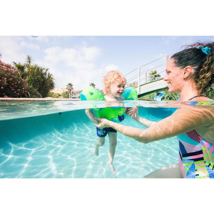 Maillot de bain bébé garçon boxer titou imprimé dragon bleu foncé