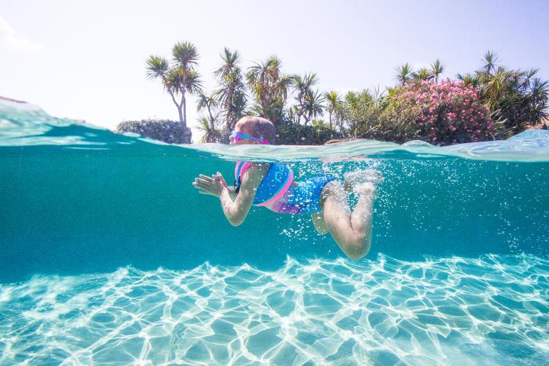 Swimming neck vest foam - pink blue