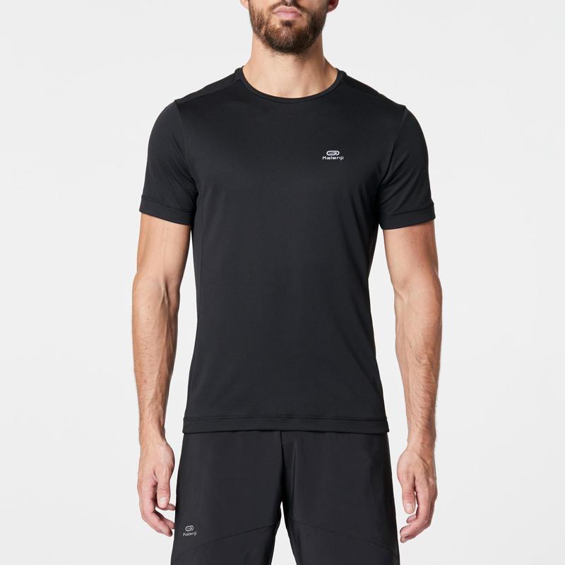 RUN DRY MEN'S RUNNING T-SHIRT - BLACK