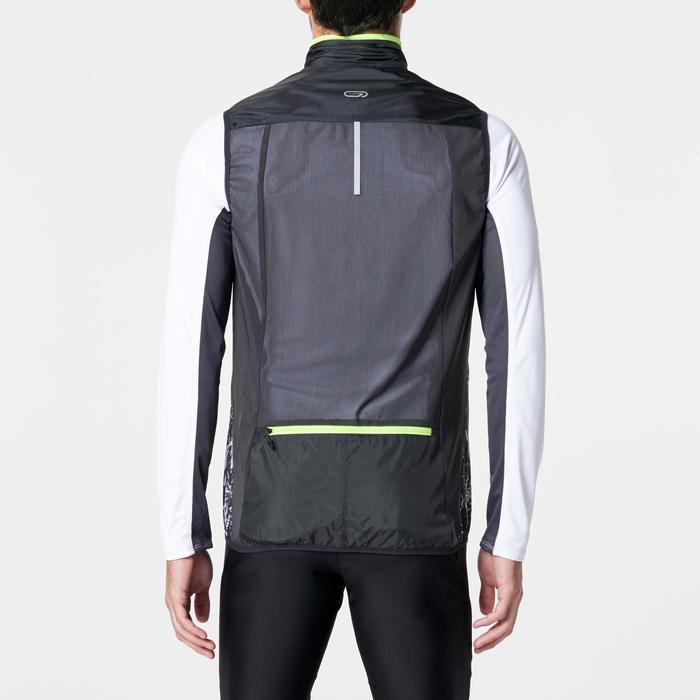 Veste sans manches coupe-vent trail running noir graph homme