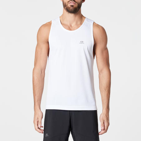 RUN DRY MEN'S RUNNING TANK TOP - WHITE