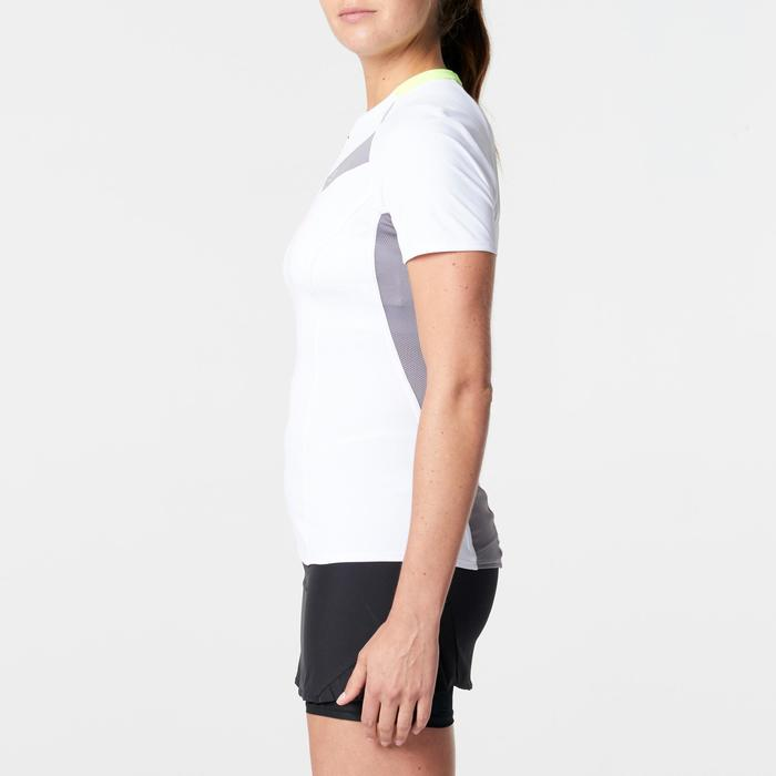 Tee shirt manches courtes trail running blanc gris femme - 1262957