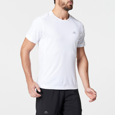 KALENJI DRY MEN'S BREATHABLE RUNNING T-SHIRT - WHITE