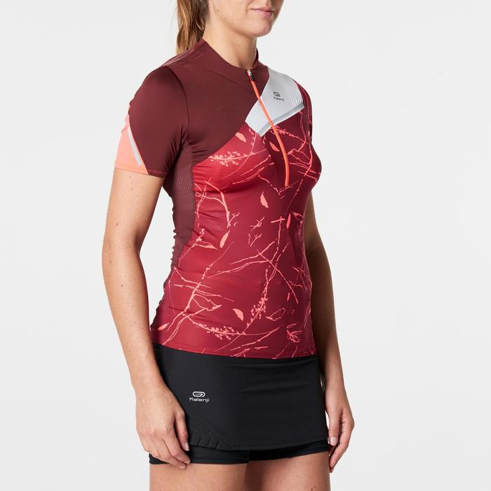 Tee shirt manches courtes trail running bordeaux graph femme