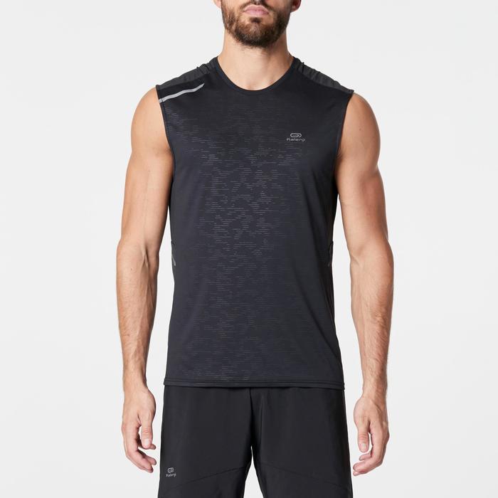 男款跑步背心RUN DRY+黑色