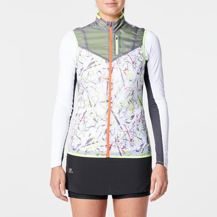 Veste sans manches coupe vent trail running gris graph femme - 1262977