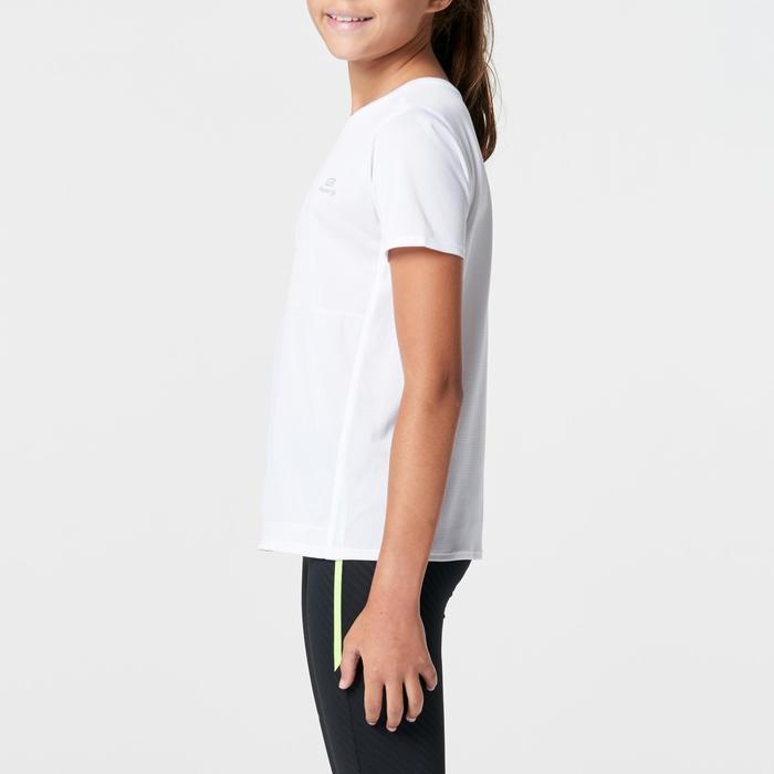 Tee shirt athlétisme enfant run dry dossard blanc - 1262991
