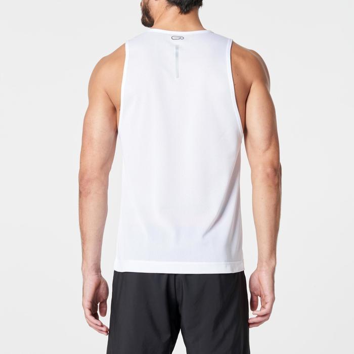 Camiseta Sin Mangas Running Kalenji Run Dry Hombre Blanco