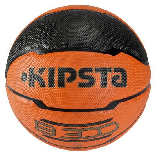 Basketbal B300 maat 7 oranje/zwart - 126301