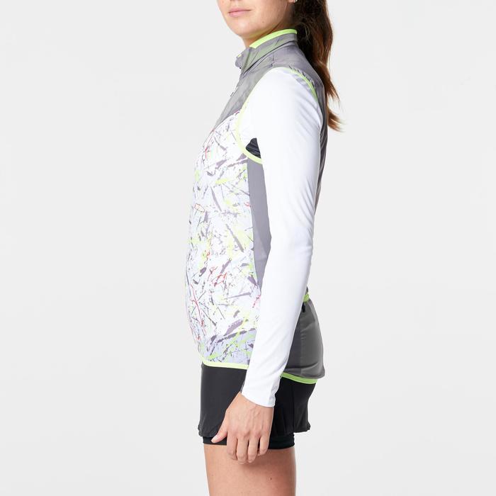Veste sans manches coupe vent trail running gris graph femme - 1263011