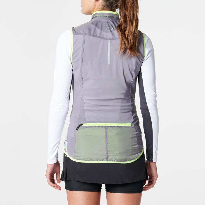 Veste sans manches coupe vent trail running gris graph femme - 1263013