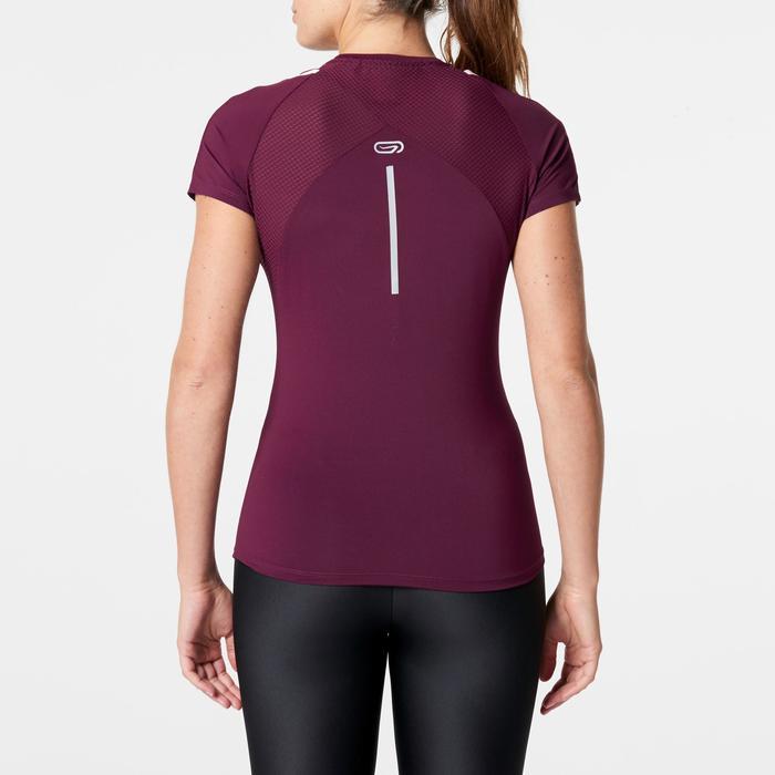 T-shirt met korte mouwen. hardlopen dames Run Dry+ bordeaux