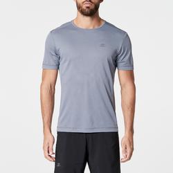 RUN DRY 男士跑步運動快乾T恤 - 灰色