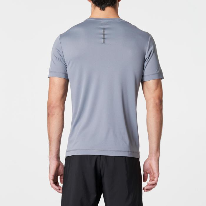 RUN DRY MEN'S RUNNING T-SHIRT - GREY