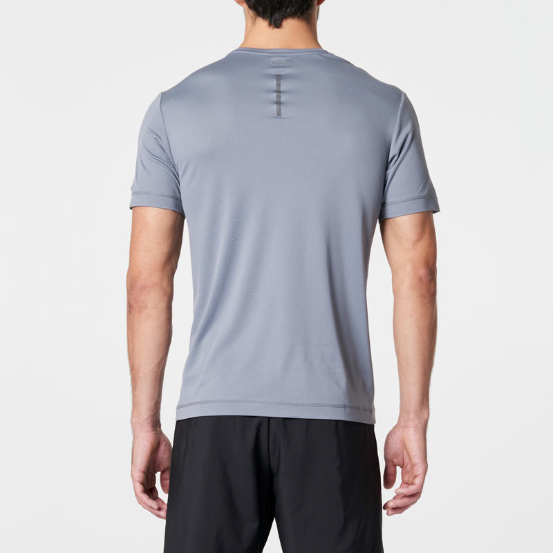 T SHIRT RUNNING HOMME RUN DRY GRIS