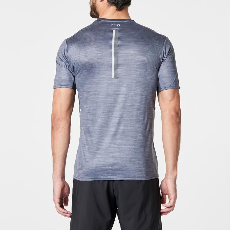 เสื้อยืดใส่วิ่งสำหรับผู้ชายรุ่น RUN DRY+ N (สีเทา)