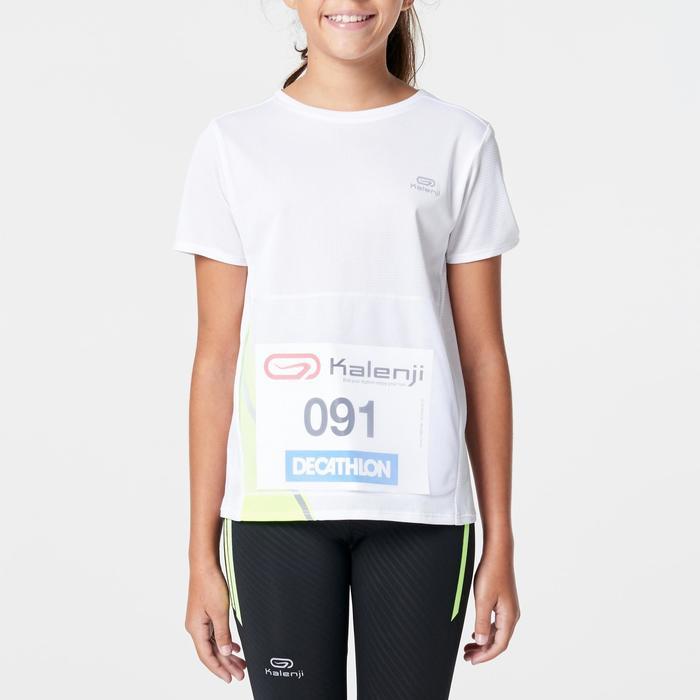 Tee shirt athlétisme enfant run dry dossard blanc - 1263068