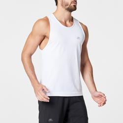 男款跑步背心RUN DRY - 白色