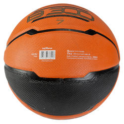 Basketbal B300 maat 7 oranje/zwart - 126308