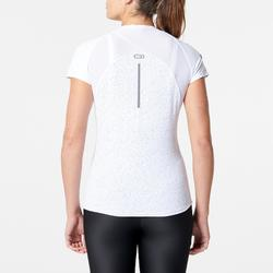 Hardloop T-shirt voor dames Run Dry+ wit print By Night