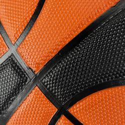 Basketbal B300 maat 7 oranje/zwart - 126314