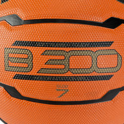 Basketbal B300 maat 7 oranje/zwart - 126315