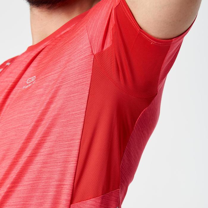 Camiseta Manga Corta Running Kalenji Run DRY+ Hombre Rojo
