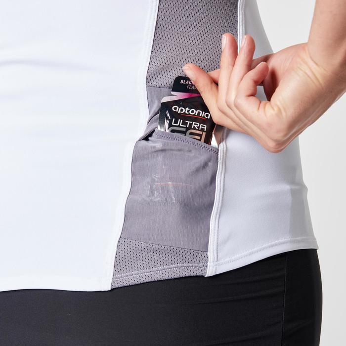 Tee shirt manches courtes trail running blanc gris femme - 1263340