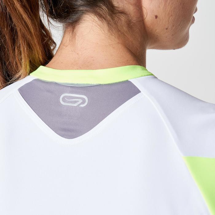 Tee shirt manches courtes trail running blanc gris femme - 1263354