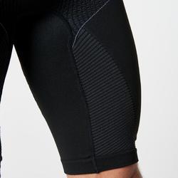 男款跑步無縫緊身褲KIPRUN - 黑色