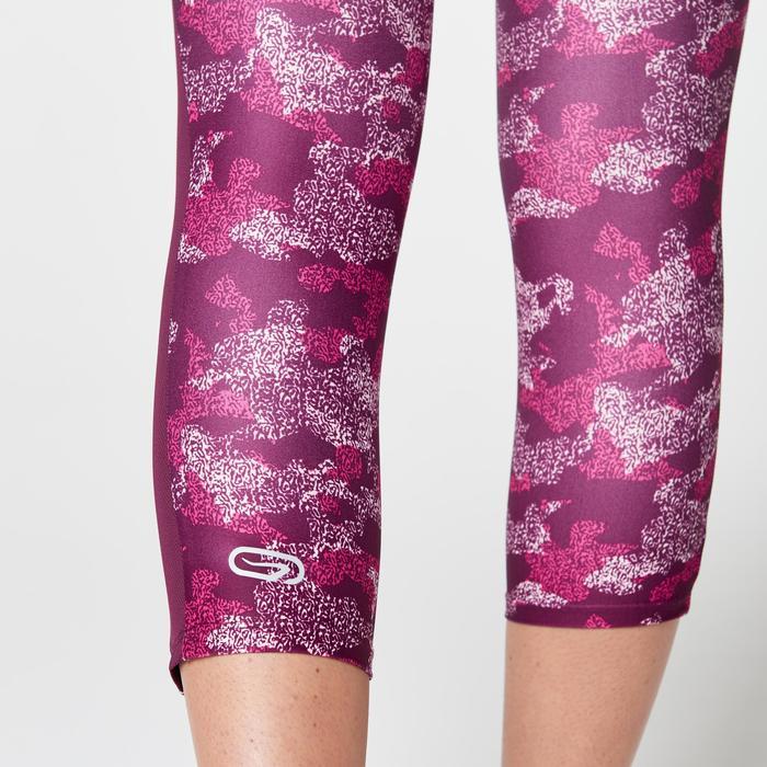 Driekwartbroek voor jogging Run Dry+ Camo roze