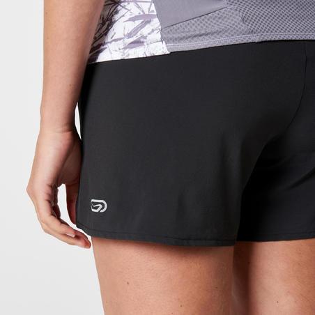 Women's trail running baggy shorts - Black/Yellow