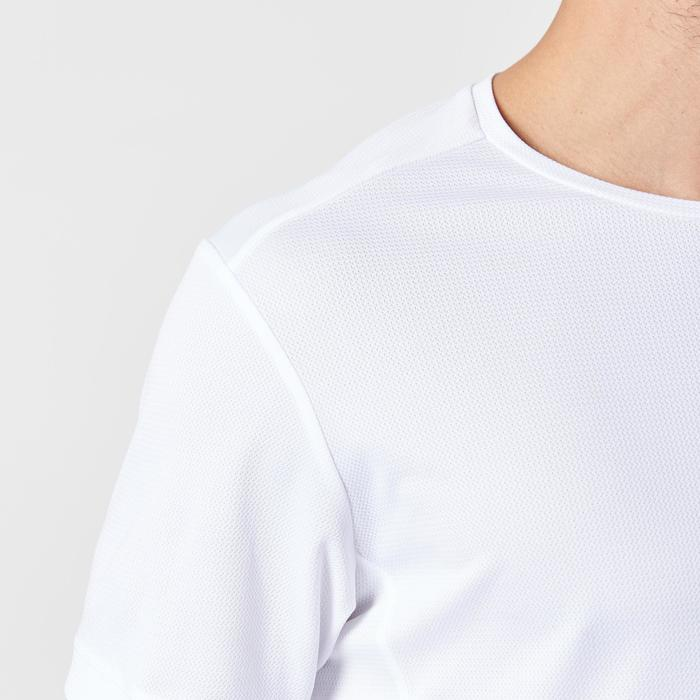 Camiseta Manga Corta Running Kalenji Run DRY Hombre Blanco