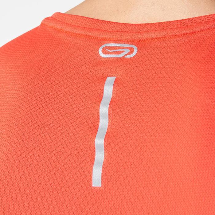 男款跑步T恤RUN DRY - 紅色