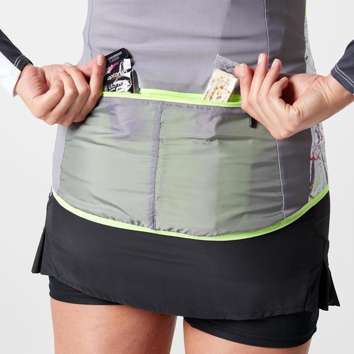 Veste sans manches coupe vent trail running gris graph femme - 1263614
