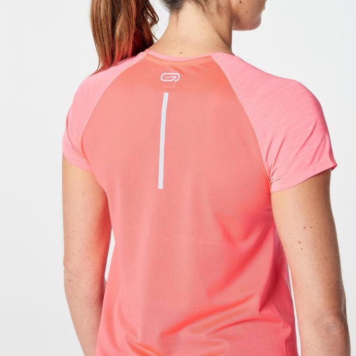 Laufshirt kurzarm Run Dry+ Run Light Damen koralle