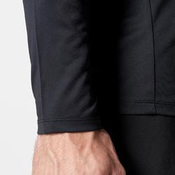男款跑步T恤Sun Protect - 黑色