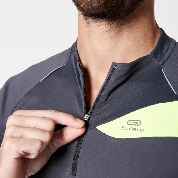Tee shirt manches courtes trail running gris jaune homme - 1263692