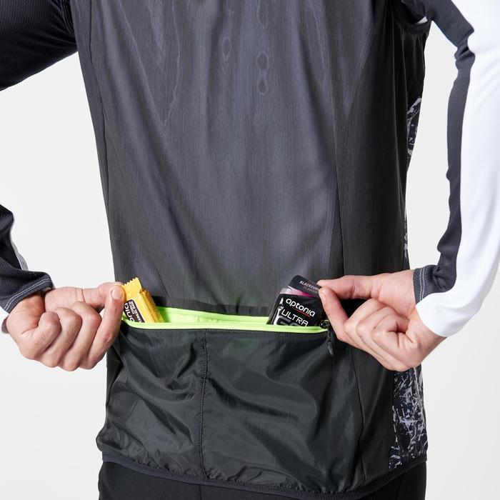 Veste sans manches coupe-vent trail running noir graph homme - 1263714
