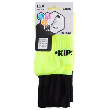 F500 Junior Football Socks - Fluorescent Yellow