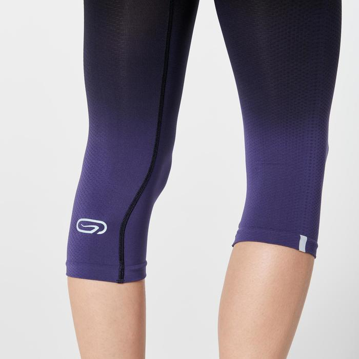 Laufhose 3/4 Tights Kiprun Care Damen schwarz/violett