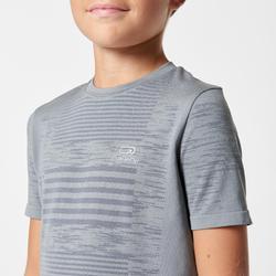 兒童田徑運動T恤 Kiprun Care - 灰色
