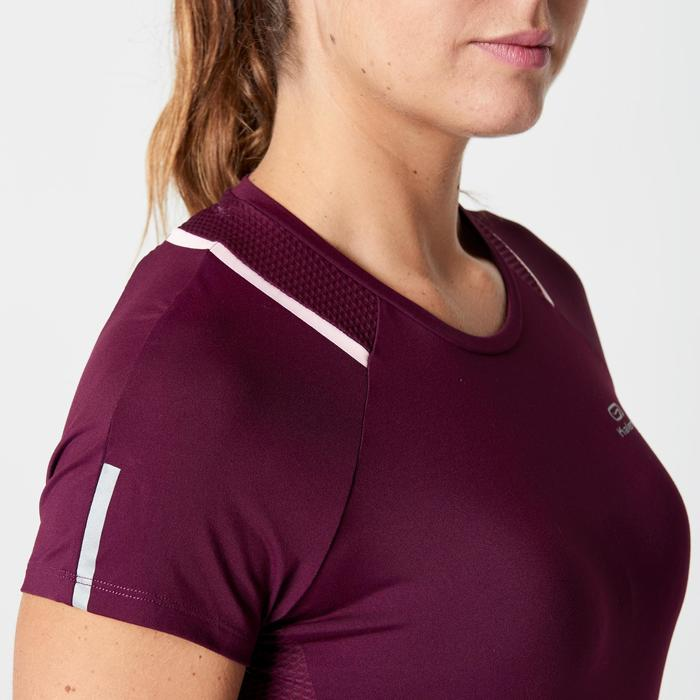 T-SHIRT SHORTSLEEVEDRUN DRY+ WOMEN'S JOGGING T-SHIRT BURGUNDY