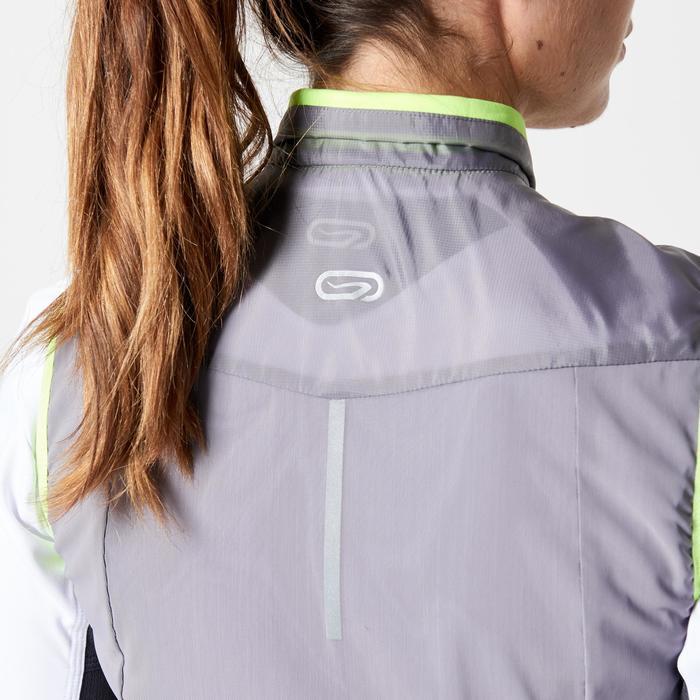 Veste sans manches coupe vent trail running gris graph femme - 1263867
