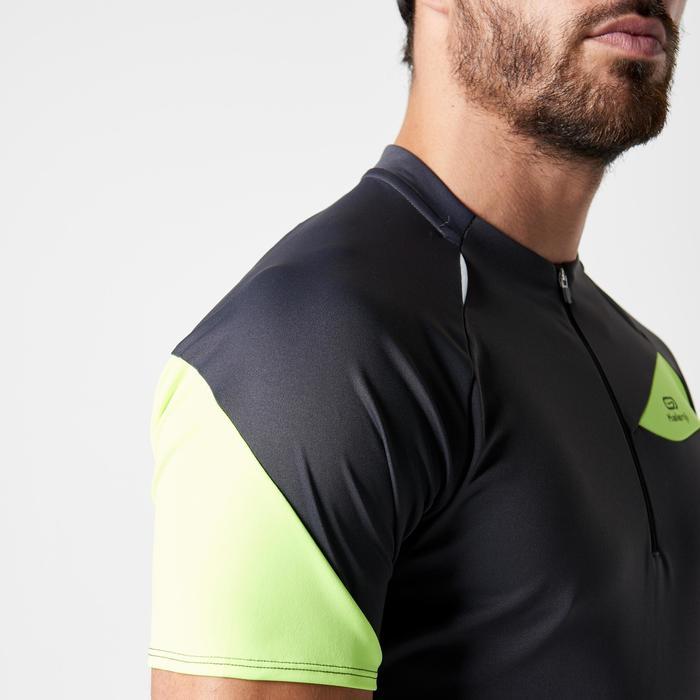 Tee shirt manches courtes trail running gris jaune homme - 1263884