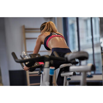 Sport-Bustier 900 Fitness Damen marineblau